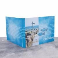 """Einladungskarte Konfirmation, Kommunion oder Firmung """"Kreuz im Meer"""" Bild 3"""
