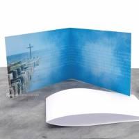 """Einladungskarte Konfirmation, Kommunion oder Firmung """"Kreuz im Meer"""" Bild 4"""
