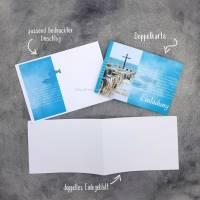 """Einladungskarte Konfirmation, Kommunion oder Firmung """"Kreuz im Meer"""" Bild 5"""
