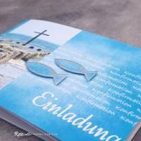 """Einladungskarte Konfirmation, Kommunion oder Firmung """"Kreuz im Meer"""" Bild 6"""