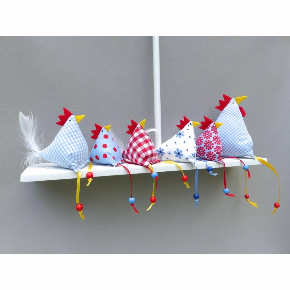 5 Hühner, 1 Hahn,  Osterdeko Bild 1