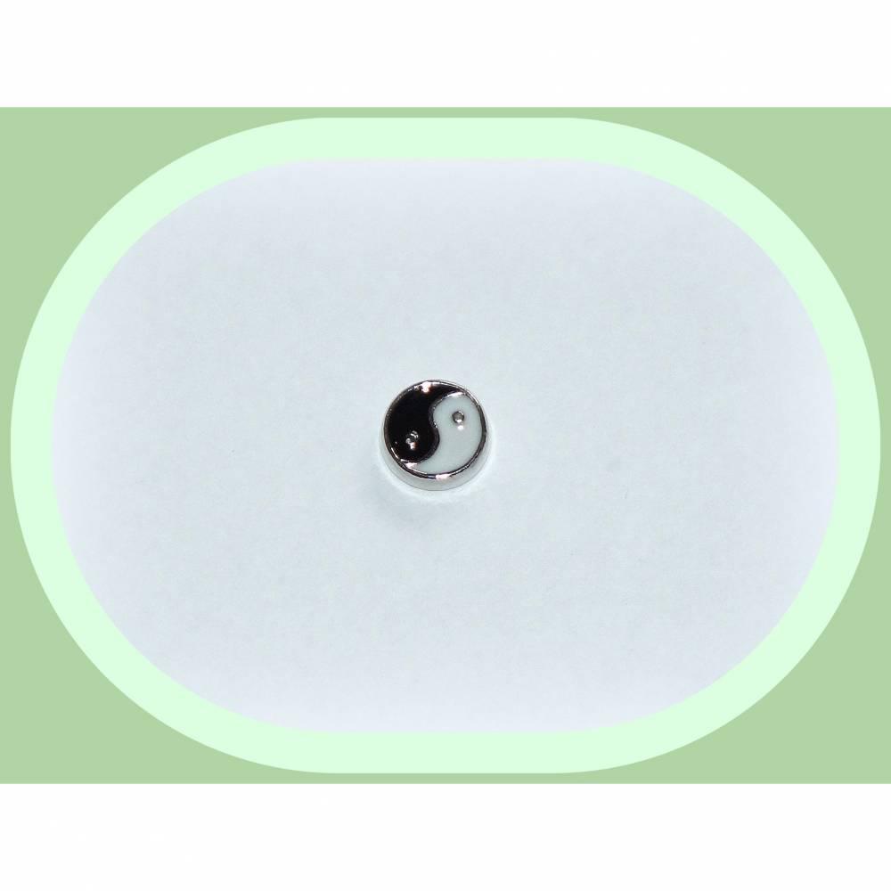 Floating Charm Yin Yang, Einleger für Glasmedaillon Bild 1
