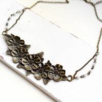 Blumenliebe • Halskette bronze | Statementkette | Geschenkidee Frau | Freundin | Schwester | Mama Bild 3