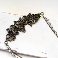 Blumenliebe • Halskette bronze | Statementkette | Geschenkidee Frau | Freundin | Schwester | Mama Bild 4