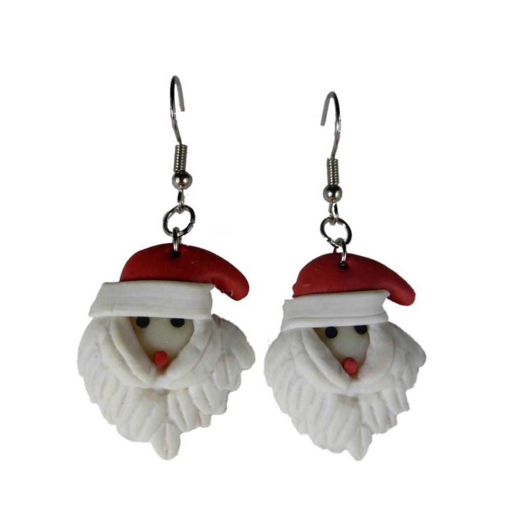 Ohrringe Ohrhänger Hänger handgemacht Weihnachtsmann Winter Weihnachten Heilig Abend 10.117 Bild 1