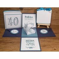 Geldgeschenk / Explosionsbox 40.Geburtstag, Geburtstagsgeschenk, Geschenkbox Bild 1