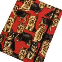 """Notizbuch Tagebuch Kladde """"Yorkshire Terrier"""" A5 Hardcover stoffbezogen Herrchen Frauchen Geschenk Fan Fanartike Bild 1"""