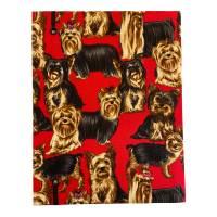 """Notizbuch Tagebuch Kladde """"Yorkshire Terrier"""" A5 Hardcover stoffbezogen Herrchen Frauchen Geschenk Fan Fanartike Bild 4"""
