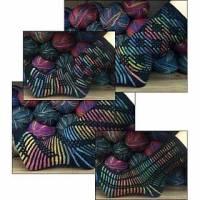 Mappe *Socks LeftOver* - 6 Strickanleitungen & 6 zusätzliche Muster für zweifarbige kreative Socken Bild 1