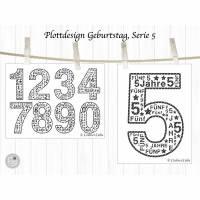Plotterdatei Geburtstag Klassik, Serie 5 Bild 2