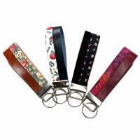 Elegantes kleines Schlüsselband Leder & Stoff - beides nach Wahl Bild 1