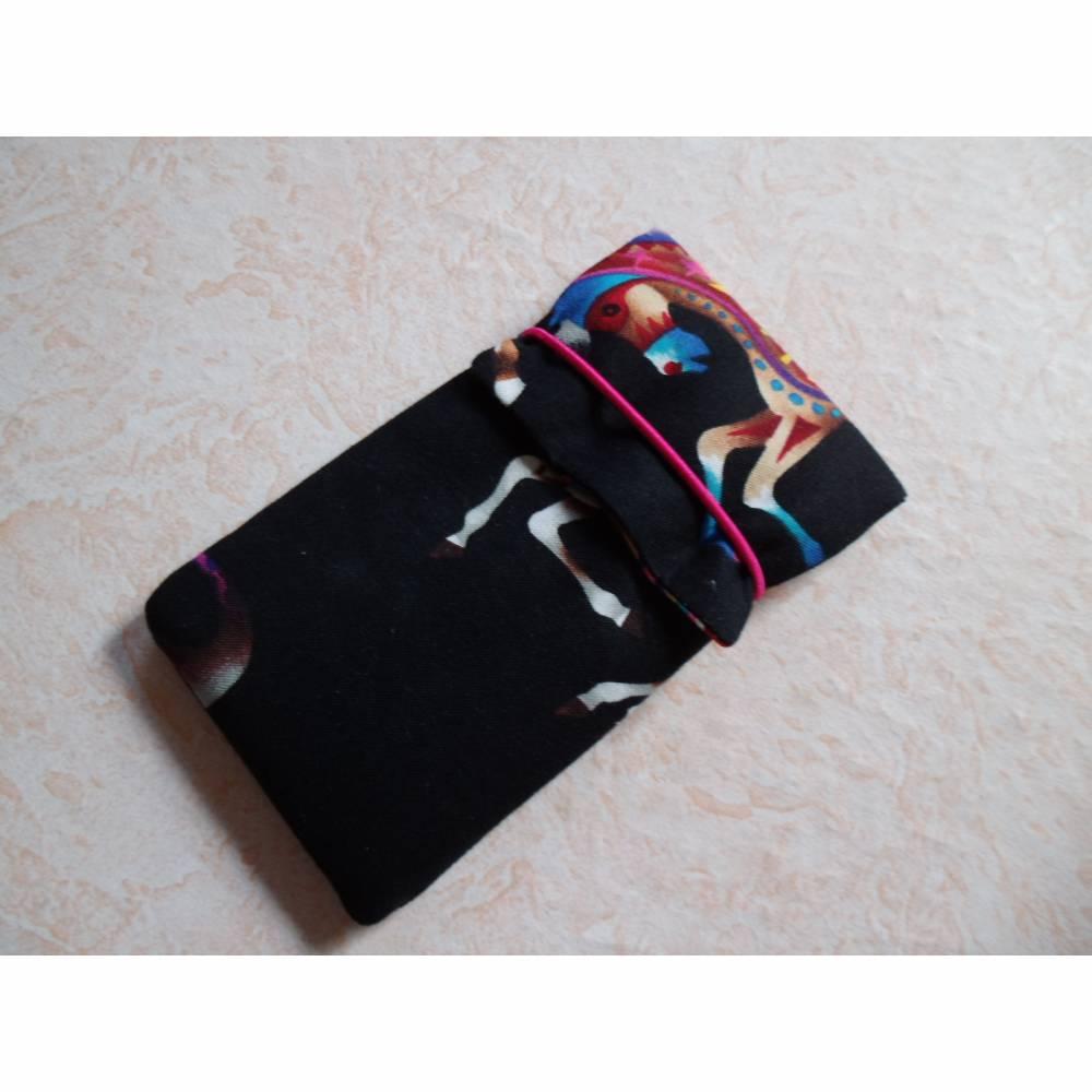 Smartphone Hülle, Handytasche, Putztuch eingenäht, Handyhülle, Smartphonetasche, 138 x 67 x 7 mm Bild 1
