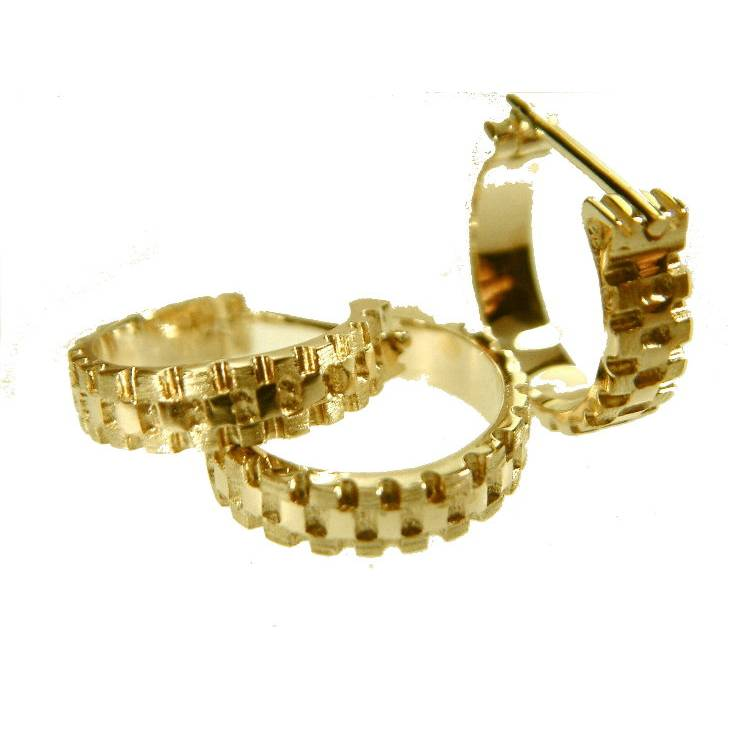Design Herren Kreole 585 Gold Männerschmuck Goldschmuck (Preis1 Creole) Herren Ohrringe Männerschmuck  Bild 1
