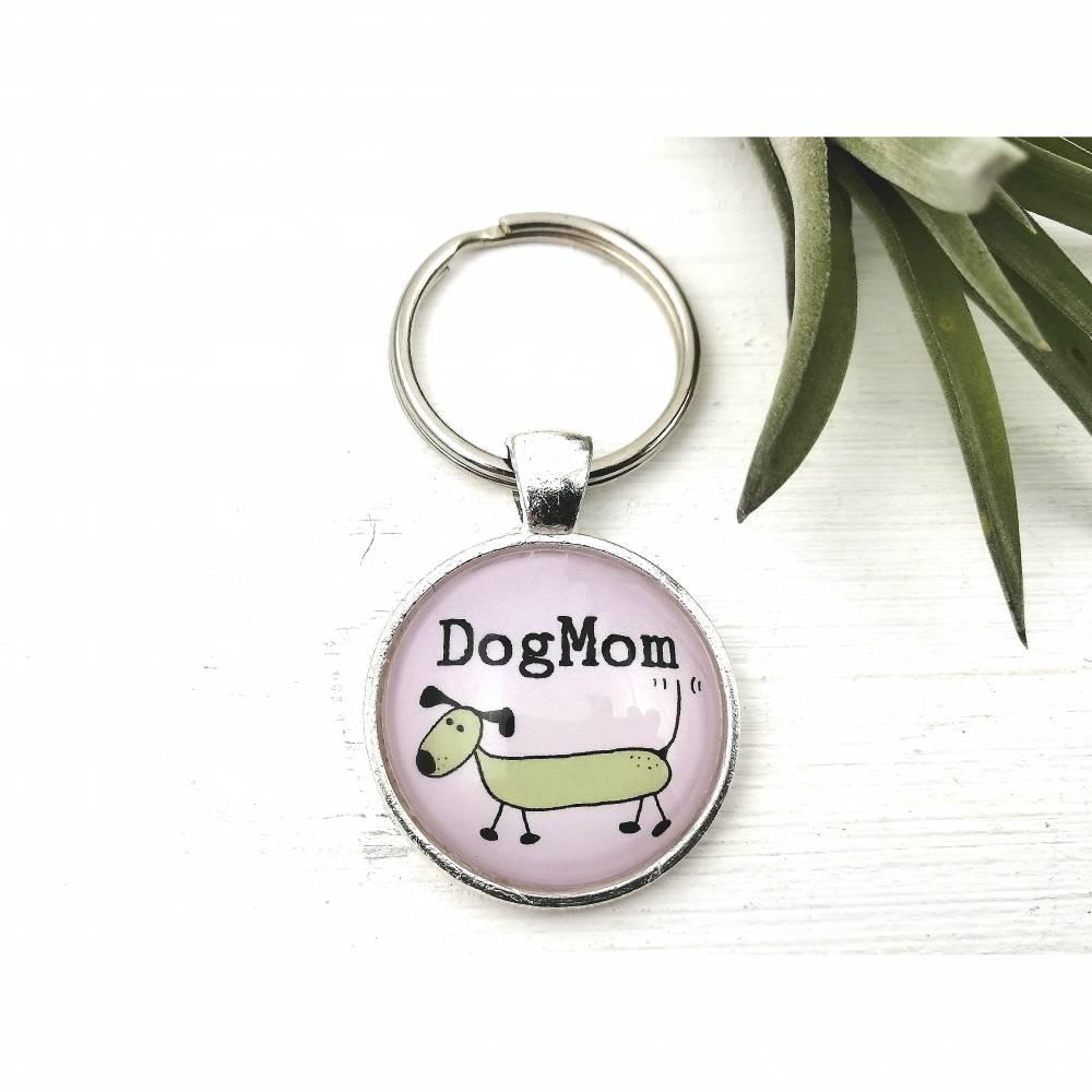 Schlüsselanhänger für Hunde Mamas, Dog Mom Schlüsselring Bild 1