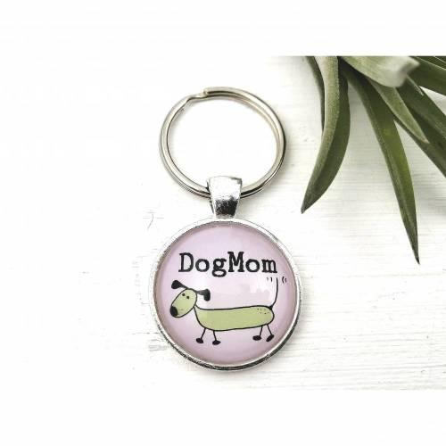 Schlüsselanhänger für Hunde Mamas, Dog Mom Schlüsselring