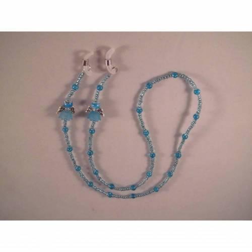 Brillenkette, Brillenband,Engel, Blau, Handarbeit