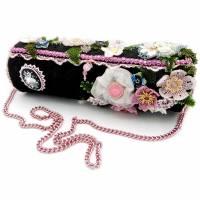 Blumen Handtasche, Damen Umhängetasche  Bild 1