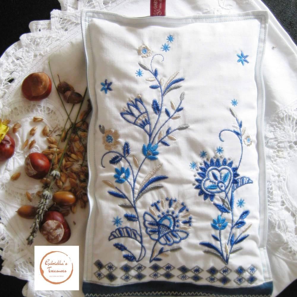 edle Handgelenkauflage für PC und Computer-Tastatur oder Maus, Füllung Dinkel und Lavendel, Geschenk,  Bild 1