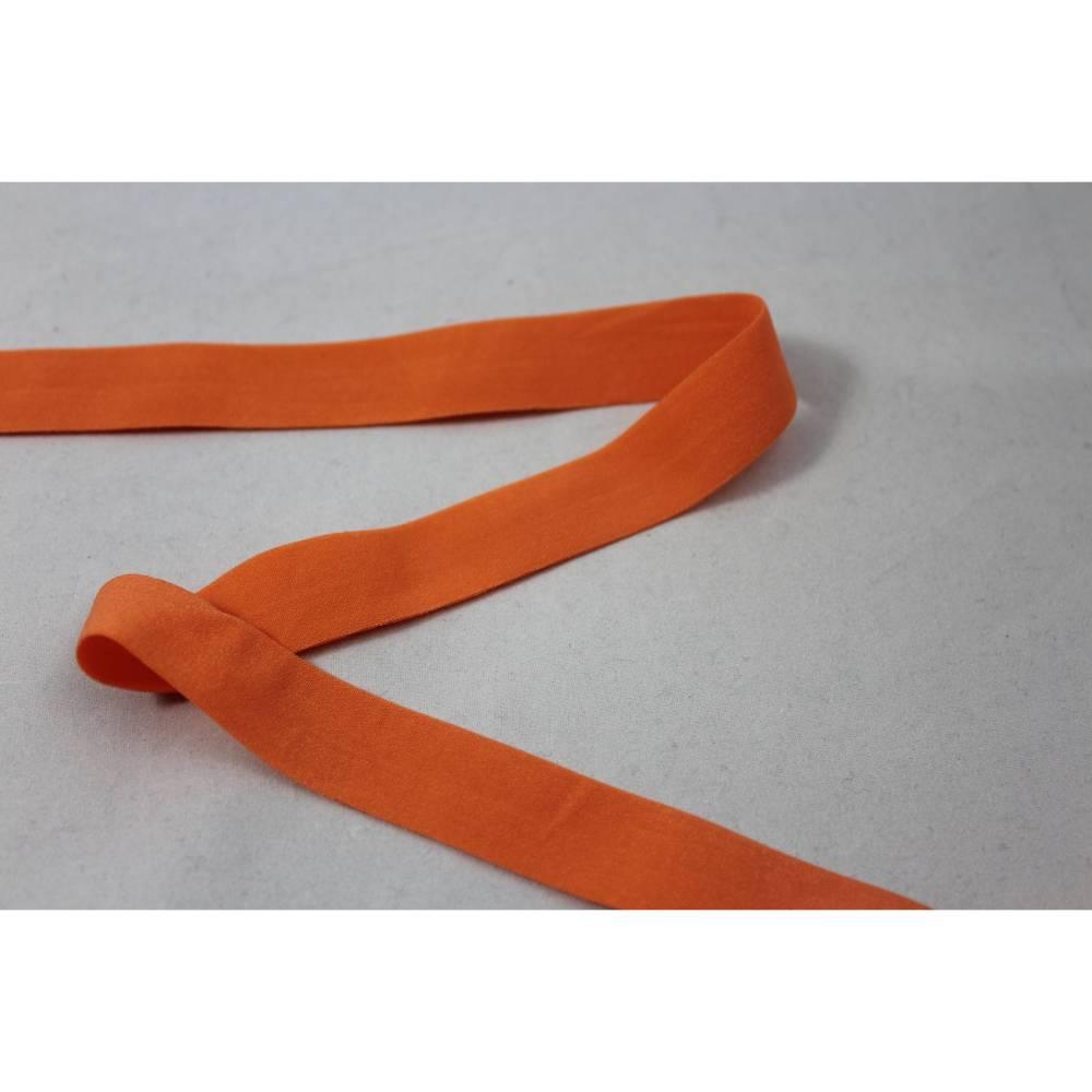 1m elastisch Einfassband, Schrägband 20 mm orange Bild 1