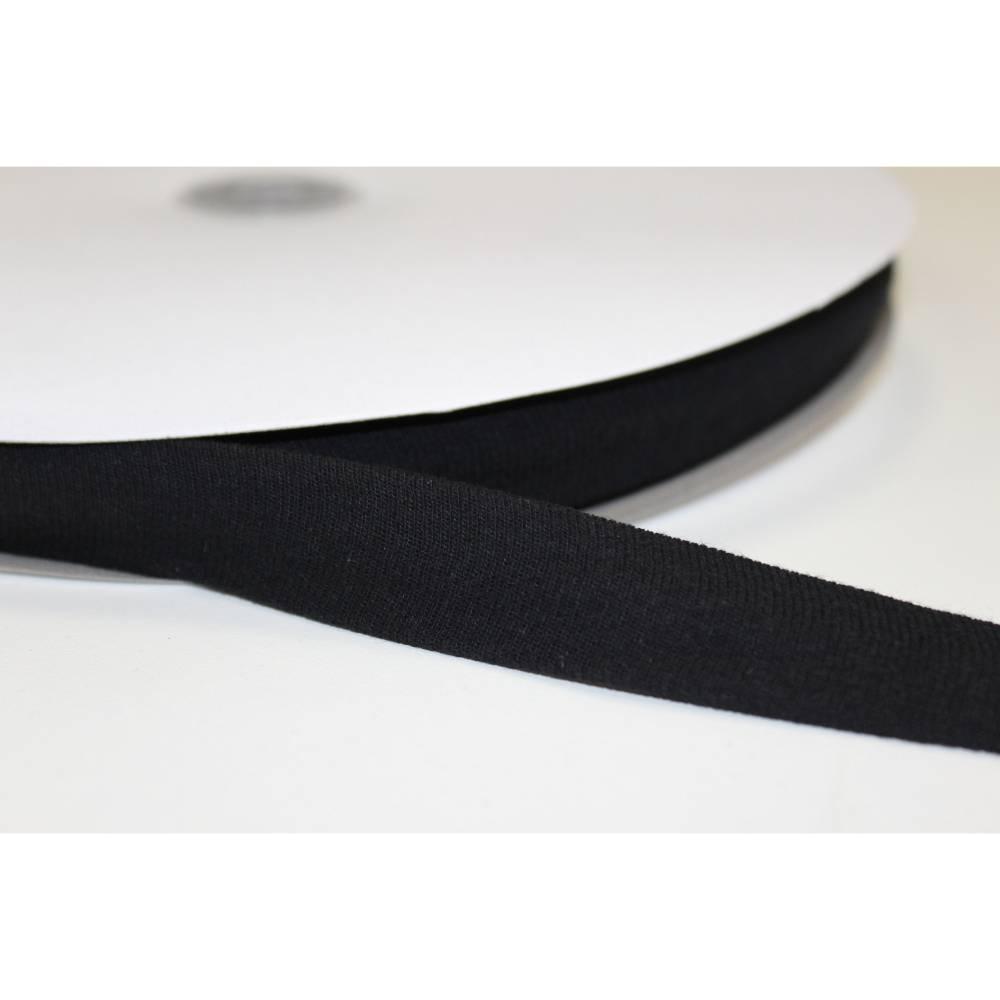 1 m Jersey Schrägband 20 mm, schwarz Bild 1