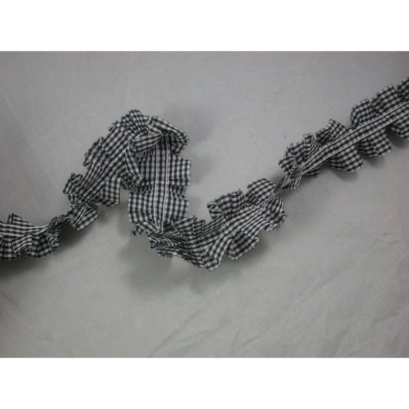1 m Rüschenband Rüschenborte Karo Bild 1