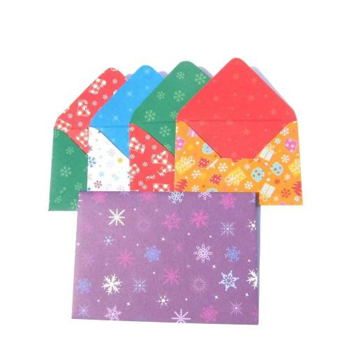Umschläge Weihnachten Kuverts Miniumschläge Weihnachtsmotive