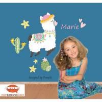 Wandtattoo-Set: Alpaka rosa - personalisierbar Bild 1