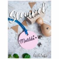 Stempel - Kind Name - Stern  -Namensstempel personalisiert / Einschulung / Buchstempel / Geschenk für Kinder Bild 1