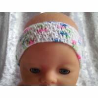 Stirnband, Mütze, Puppen der Größe 42 cm, Handarbeit Bild 1