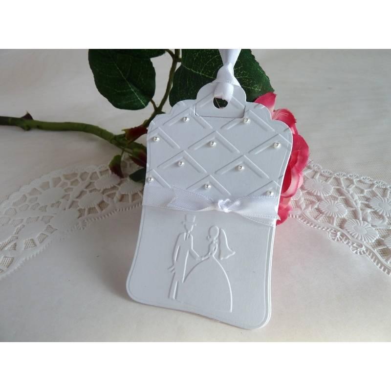 Geschenkanhänger / Tag / für die Hochzeit, perlenreich Bild 1