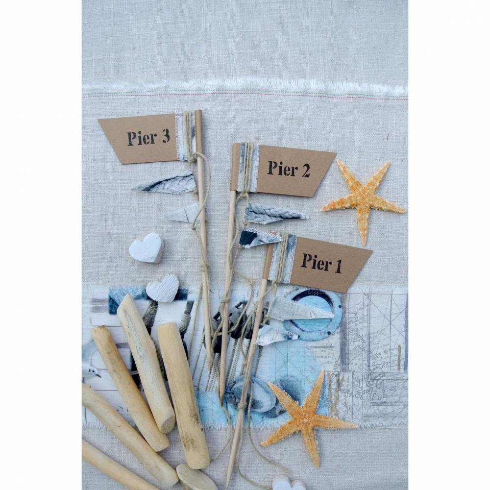 Tischzahlen, Tischnummern, MARITIM WEDDING, Tischzahl, Tischnummer, Tischzahlenfähnchen, Hochzeit, Heiraten, Hochzeitsdeko, Wedding, Papierwiese Bild 1