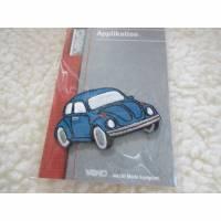 Aufbügler, Applikationen,Bügelbild,Auto,  Käfer, Oldtimer blau, 58 x 35 mm (1 Stück/2,50 €) Bild 1