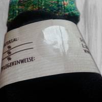 6 Sockenbanderolen: Handmade - personalisierbar   mit transparente Klebepunkte Bild 3