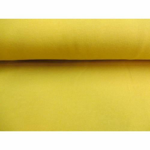 French Terry,  Baumwoll - Jersey , uni , gelb unangeraut Oeko-Tex® Standard 100 (1m/12,-€)