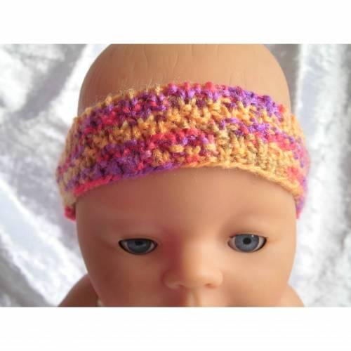 Stirnband, Mütze, Puppen der Größe 42 cm, Handarbeit