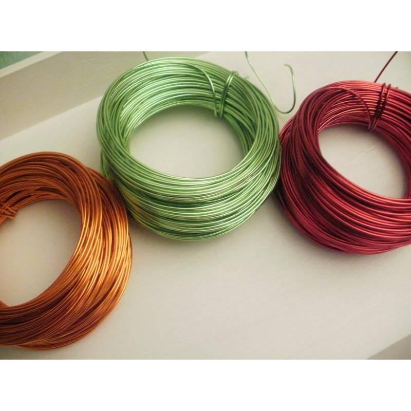 3 m Aludraht 2 mm dick in orange, grün oder rot Bild 1