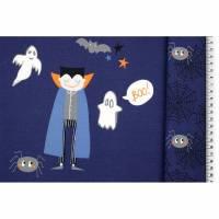Panel Halloween dunkelblau