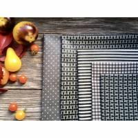 Bienenwachstuch Set, Bienenwachstücher 5 Stück, Grösse S - XL, biologisches Bienenwachs, Bees Wax Wrap, organic Bild 1