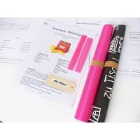 DIY Nähset, Nähpaket Lunchbag, Badetasche, ausgedruckter Schnitt, Nähanleitung und sämtliche Zutaten, Tafelstoff/ pink Bild 1