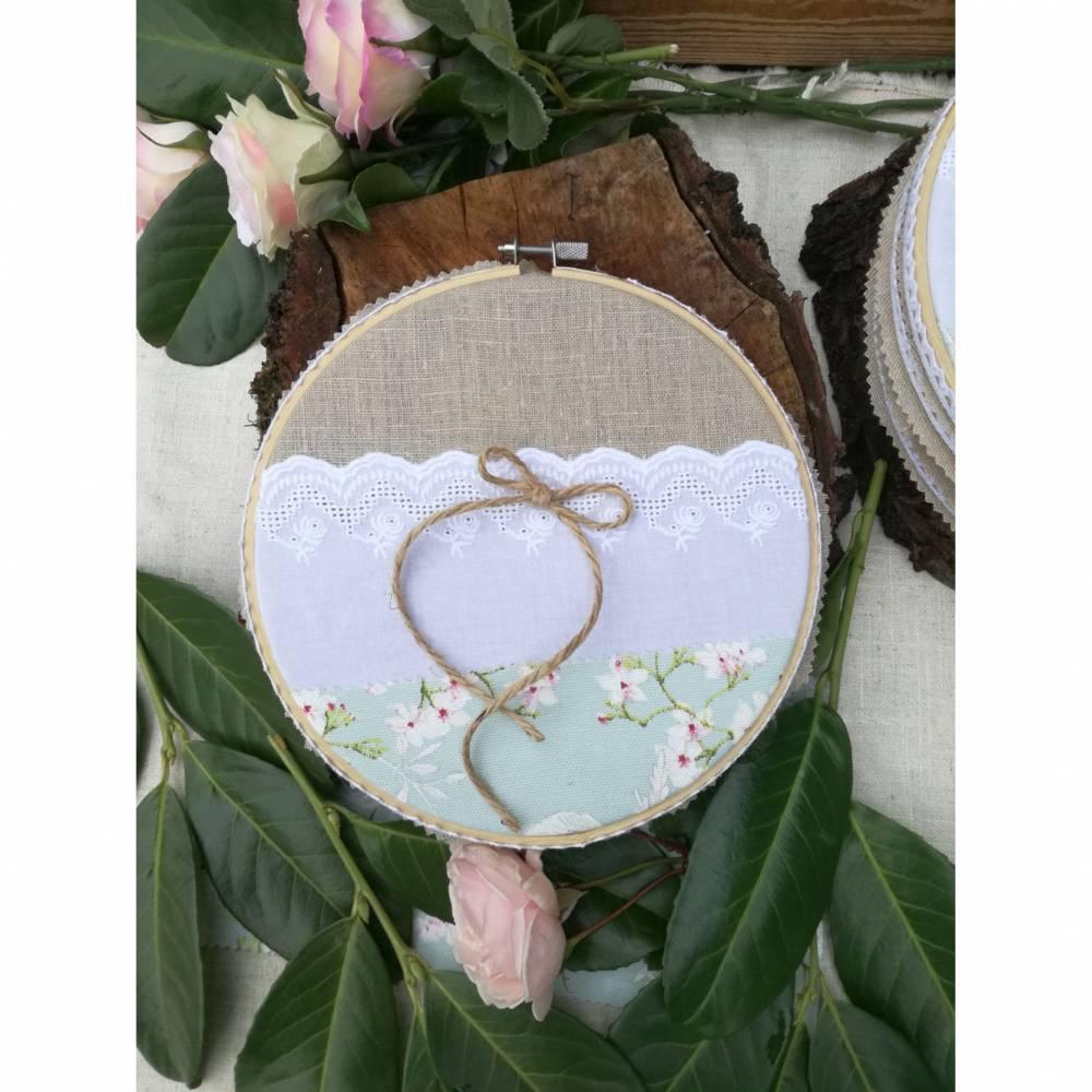 Ringkissen, Ringreifen, Hochzeit, Hochzeitszeremonie, Heiraten, Wedding, Papierwiese, Shabby chic, Ringträgerkissen, Bild 1