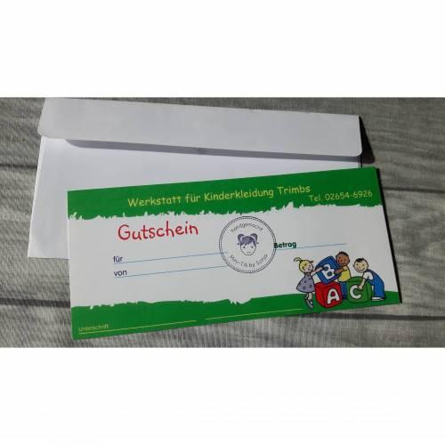 Geschenk Gutschein zur Geburt, Taufe oder Geburtstag - aus dem kompletten Mini-Tilli Sortiment - Betrag 40 €