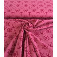 Jersey maritim rosa / pink Bild 1