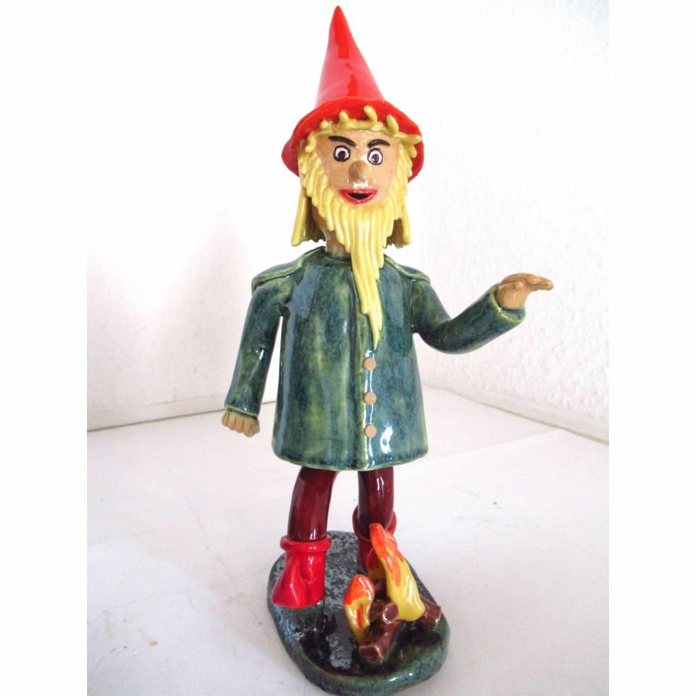 Räuchermann Rumpelstilzchen, Keramik ,Skulptur Märchenfigur Zwerg Bild 1