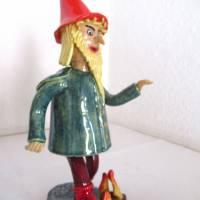 Räuchermann Rumpelstilzchen, Keramik ,Skulptur Märchenfigur Zwerg Bild 2