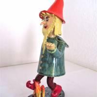 Räuchermann Rumpelstilzchen, Keramik ,Skulptur Märchenfigur Zwerg Bild 4