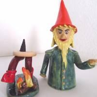 Räuchermann Rumpelstilzchen, Keramik ,Skulptur Märchenfigur Zwerg Bild 5