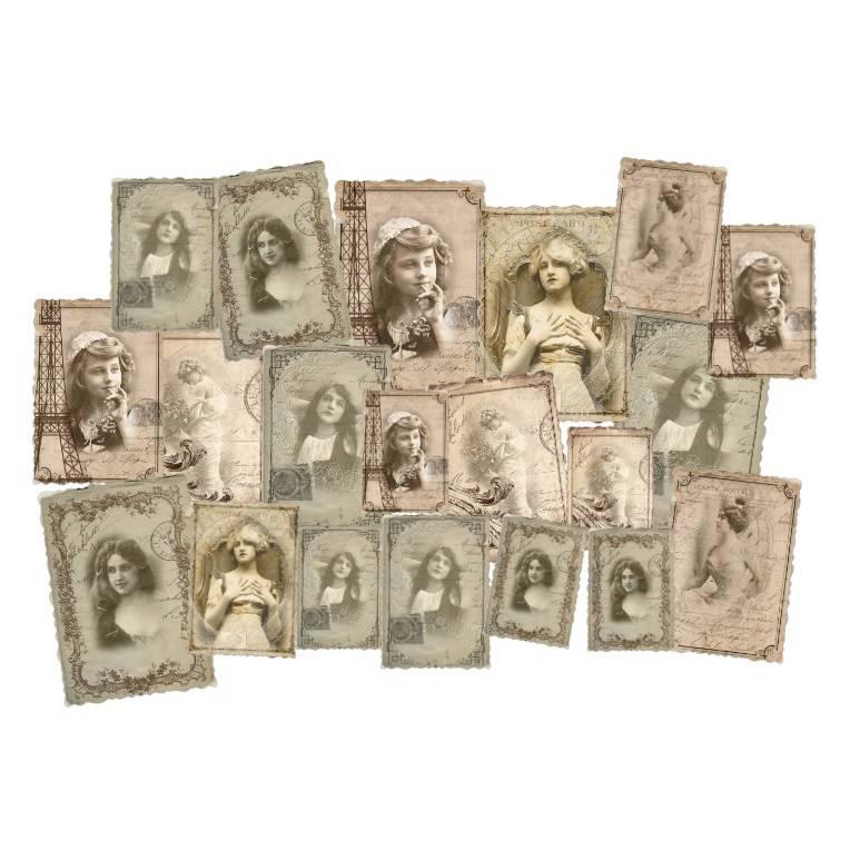 Stanzteile- Kartenaufleger - Scrapbooking- Vintage - Shabby - Nostalgie - Foto - 40009 Bild 1