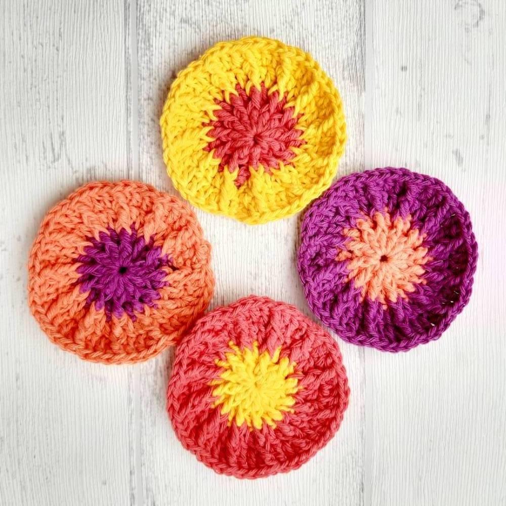 Abschminkpads - 4 Stück - lila - orange - gelb - nachhaltig Bild 1