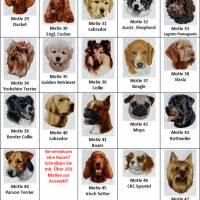 Hundehalstuch orange mit Namen und Motiv personalisiert / bestickt - über 200 Hundemotive - viele Schriftarten Bild 5