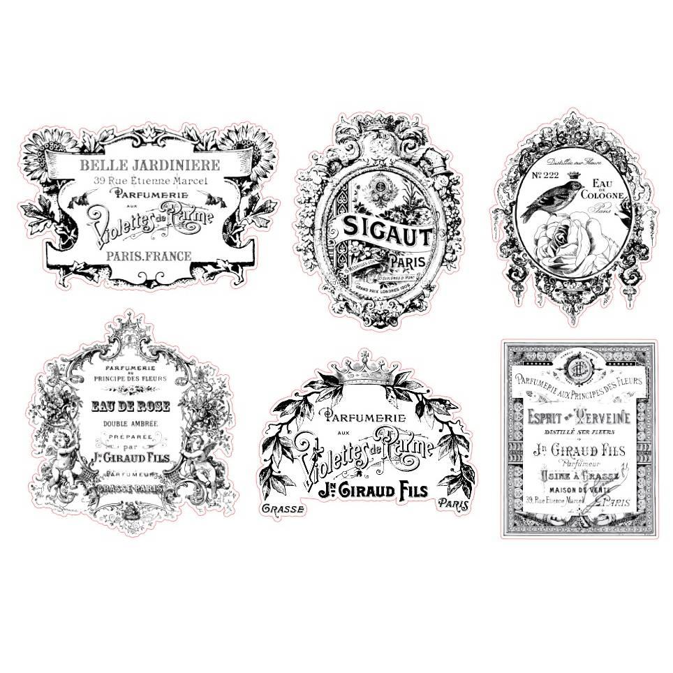 Aufkleber   Folie   transparent   wasserfest   Parfüm   12